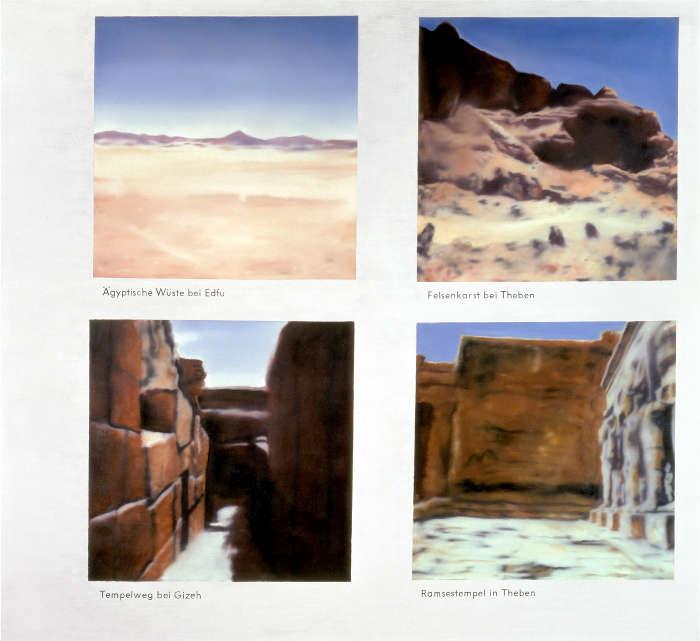 Gerhard Richter, Ägyptische Landschaft, 1964/65, Öl auf Leinwand, 150 x 165 cm, GR 53 (Private Collection. Courtesy Hauser & Wirth Collection Services © Gerhard Richter)