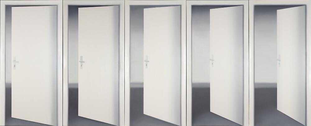 Gerhard Richter, Fünf Türen (I), 1967, Öl auf Leinwand, 235 x 550 cm (Museum Ludwig Köln) © Gerhard Richter 2017 (221116) Foto: Rheinisches Bildarchiv Köln
