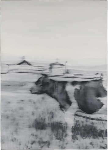 Gerhard Richter, Kuh II, 1965, Öl/Lw, 157 x 113 cm (Staatsgalerie Stuttgart, © Gerhard Richter 2018 (26022018))