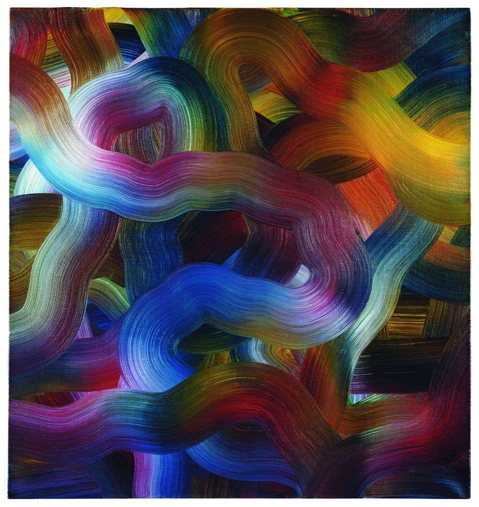 Gerhard Richter, Rot-Blau-Gelb (339-4), 1972, Öl/Lw, 98 x 92 cm (Privatsammlung, Schweiz. © Gerhard Richter 2018 (29062018)