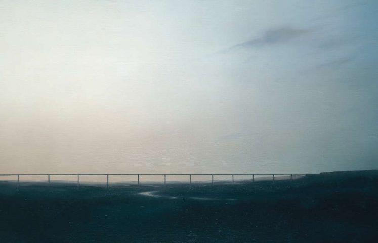 Gerhard Richter, Ruhrtalbrücke, Detail, 1969, Öl auf Leinwand, 120 x 150 cm, GR 228 (Private Collection. Courtesy Hauser & Wirth Collection Services © Gerhard Richter)