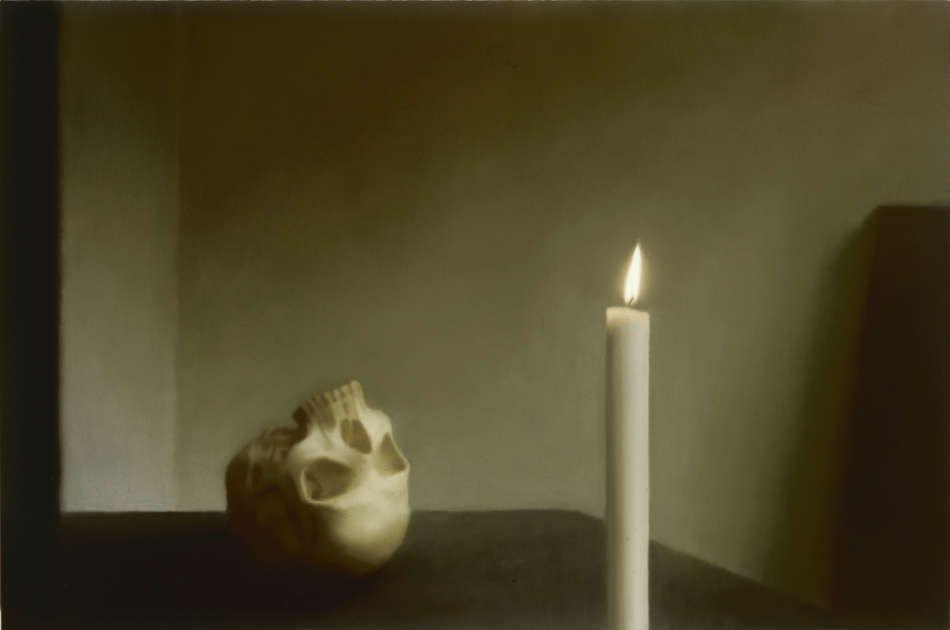 Gerhard Richter, Schädel mit Kerze, 1983, Öl auf Leinwand, 100,3 x 150,1 cm (Privatbesitz)