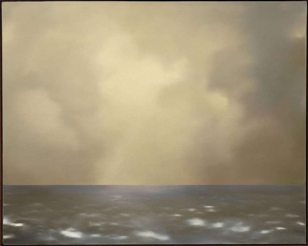 Gerhard Richter, Seestück (oliv bewölkt), 1969, Öl/Lw, 80 cm x 100 cm (Privatsammlung, Italien © Gerhard Richter, WVZ 237-3)