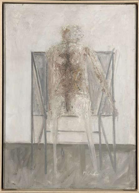 Gerhard Richter, Sitzende, Oktober 1961, Öl auf Hartfaserplatte, 70×50 cm (Privatsammlung, Norddeutschland)