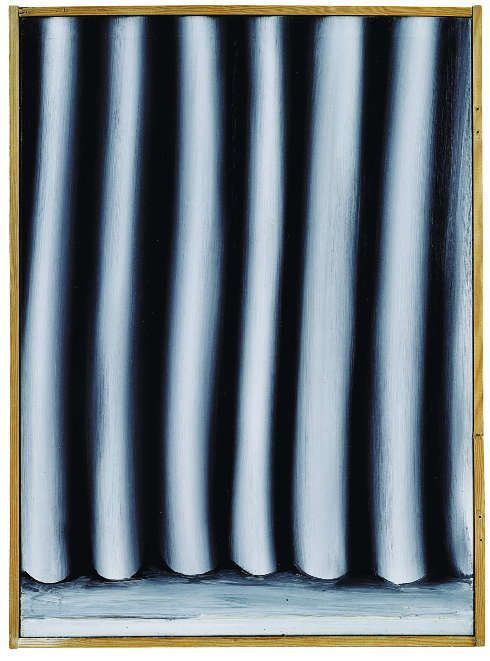 Gerhard Richter, Vorhang (58-1), 1964, Öl auf Leinwand, 65 x 47 cm, Sammlung Block, Berlin. © Gerhard Richter 2018 (29062018)
