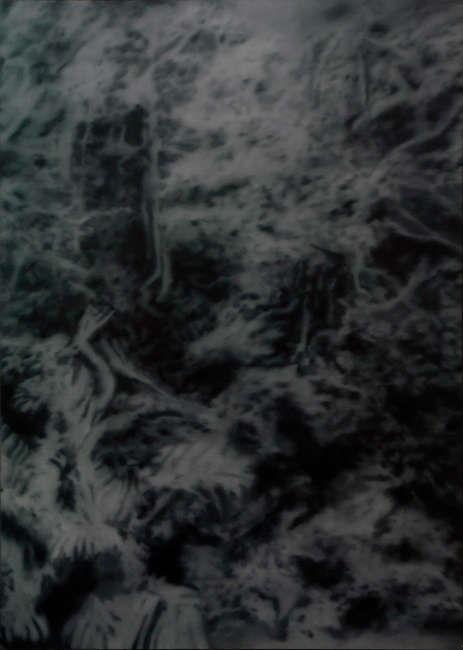 Gerhard Richter, Waldstück (Okinawa), 1969, Öl auf Leinwand, 174 x 124 cm, GR 215 (Sammlung Anne & Wolfgang Titze © Gerhard Richter)