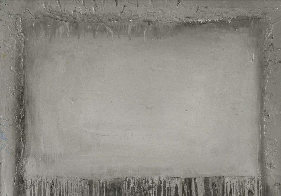 Gerhard Richter, Wunde 16 (Nr. II/16/62), Februar 1962, Öl auf Hartfaserplatte, 70×100 cm (Sammlung Susanne Walther)