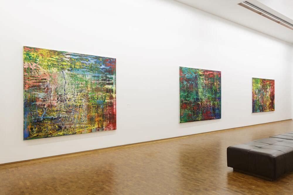 Gerhard Richter. Neue Bilder, Installationsansicht im Museum Ludwig Köln, 2017, Foto: Rheinisches Bildarchiv Köln/ Britta Schlier