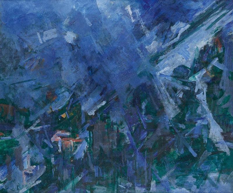 Gerhart Frankl, Gasteinertal II, 1962, 64 x 77 cm, Öl/Lw (Belvedere, Wien)