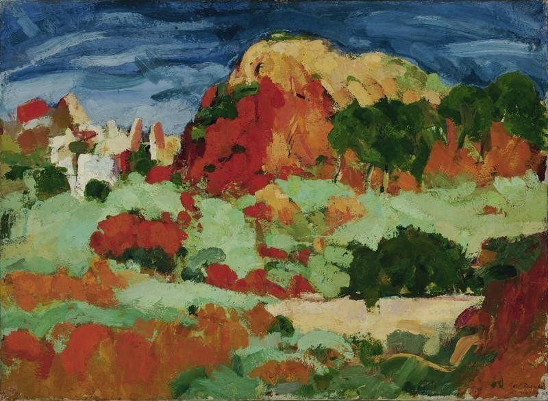 Gerhart Frankl, Landschaft in Tunis, 1923, Öl/Lw, 51 x 70 cm (Belvedere, Wien)