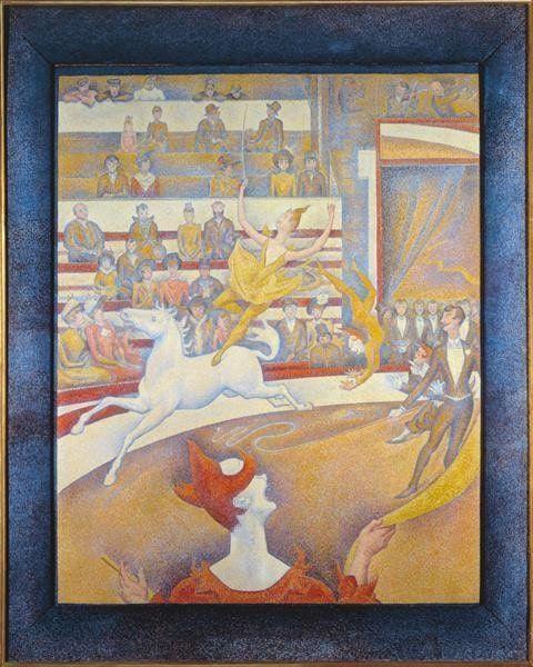 Georges Seurat, Der Zirkus, 1890/1891, Öl auf Leinwand, 185,5 x 152,5 cm (Musée d'Orsay, Paris)