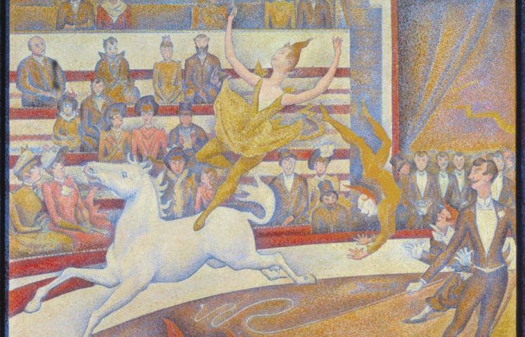 Georges Seurat, Der Zirkus, Detail, 1890/1891, Öl auf Leinwand, 185,5 x 152,5 cm (Musée d'Orsay, Paris)