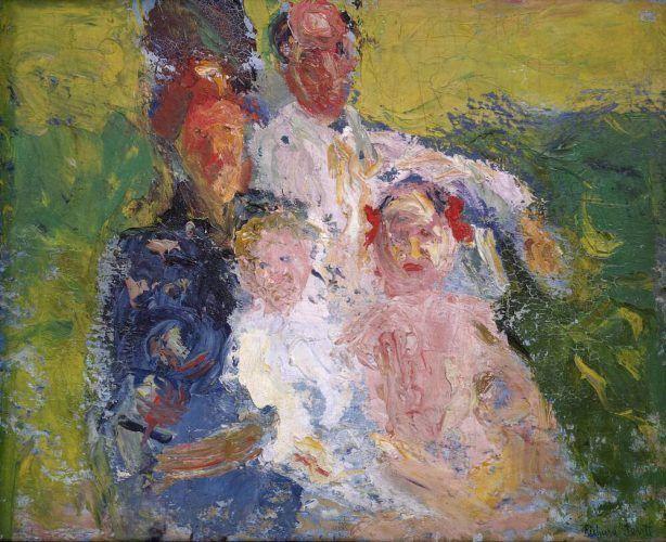 Richard Gerstl, Die Familie Schönberg, Ende Juli 1908, Öl auf Leinwand, 88,8 x 109,7 cm (Museum moderner Kunst Stiftung Ludwig Wien)