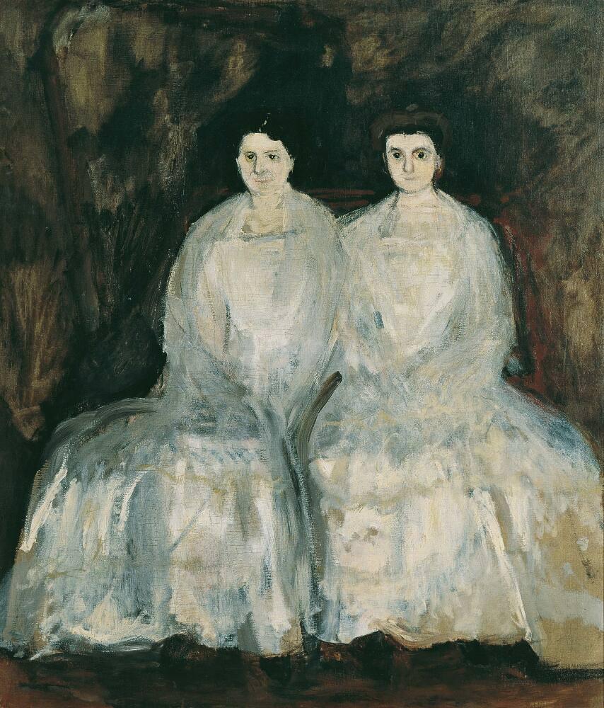 Richard Gerstl, Die Schwestern Karoline und Pauline Fey, März/April 1905, Öl auf Leinwand, 175 x 150 cm (Belvedere, Wien)