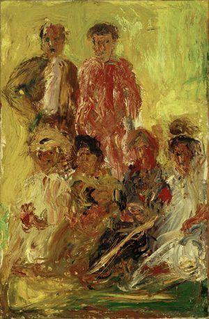 Richard Gerstl, Gruppenbildnis mit Schönberg, Ende Juli 1908, Öl auf Leinwand, 169 x 110 cm (Kunsthaus Zug, Stiftung Sammlung Kamm, Foto: Kunsthaus Zug / Alfred Frommenwiler)
