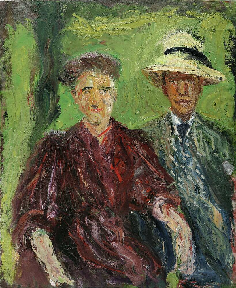 Richard Gerstl, Paar im Grünen, Juli 1908, Öl auf Leinwand, 111,2 x 90,7 cm (Leopold Museum, Wien)
