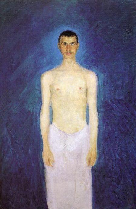Richard Gerstl, Selbstbildnis als Halbakt, 1902/04, Öl auf Leinwand, 159 x 109 cm (Foto © Leopold Museum, Wien)