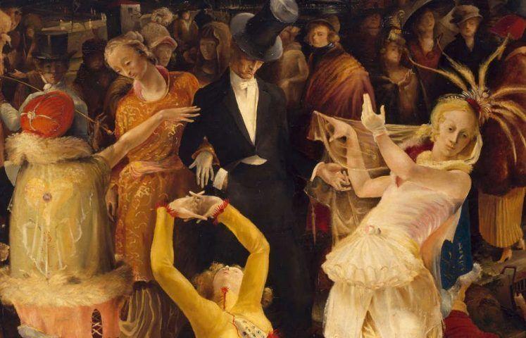 Gert H. Wollheim, Abschied von Düsseldorf, Detail, 1924, Öl auf Leinwand, 160 × 185 cm (Kunstpalast, Düsseldorf, © Jutta Osterhof / Nachlass des Künstlers, Foto: Kunstpalast - Horst Kolberg – ARTOTHEK)
