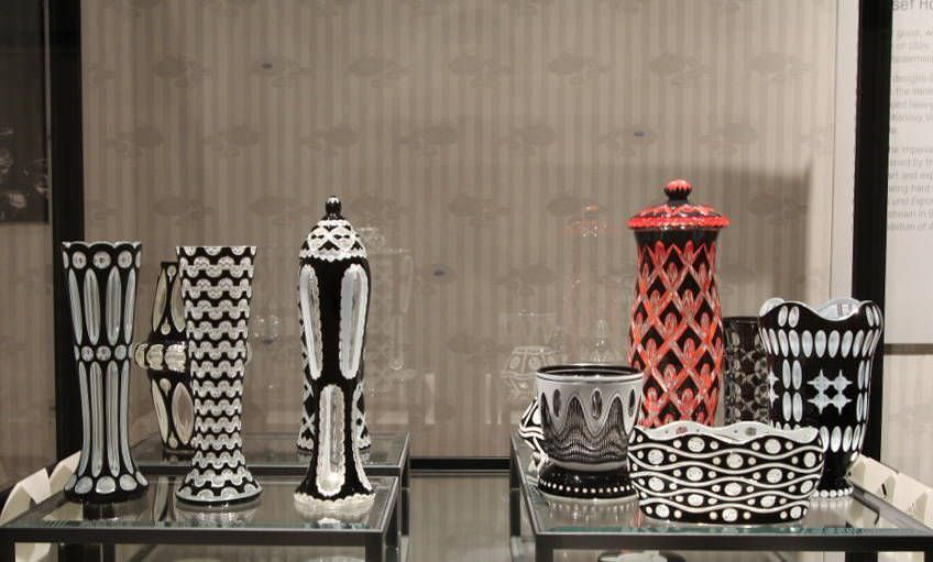 Vasen, Geschliffenes Kristallglas, 1913 (MAK), Foto: Alexandra Matzner, ARTinWORDS.