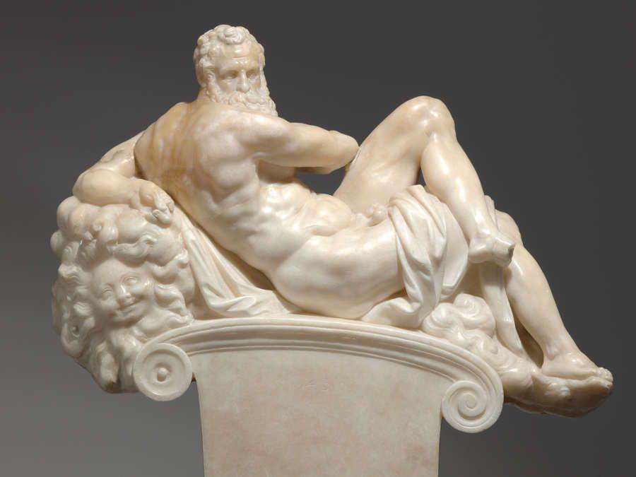 Giambologna nach Michelangelo, Der Tag, Florenz vor 1574, Alabaster, 44,5 x 48,5 x 14,7 cm (Skulpturensammlung © SKD, Foto: Hans-Peter Klut)