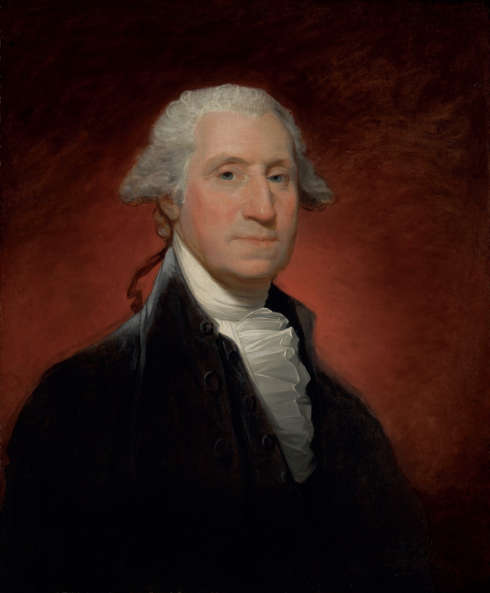 Gilbert Stuart, George Washington (Vaughan type), 1795, Öl-Lw, 74 x 61.3 cm (Privatsammlung)