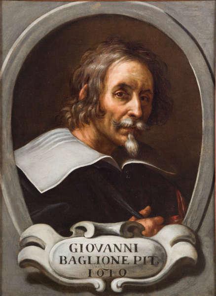 Giovanni Baglione, Selbstporträt von Giovanni Baglione, 1635–1640, Öl/Lw, 63,7 x 46,3 cm (Accademia Nazionale di San Luca, Rom © Courtesy of Accademia Nazionale di San Luca, Roma)