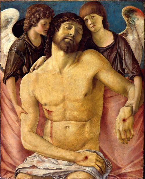 Giovanni Bellini, Toter Christus, 1475-80, Öl/Pappel, 82.9 x 66.9 cm (Gemäldegalerie, Berlin, © Gemäldegalerie der Staatlichen Museen zu Berlin - Preußischer Kulturbesitz / photo: Jörg P. Anders)