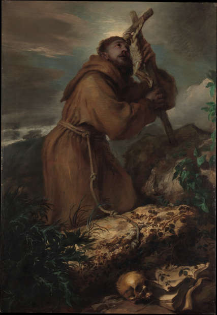 Giovanni Benedetto Castiglione, Extase des hl. Franziskus, um 1650, Öl/Lw, 195,6 x 135,3 cm (Metropolitan Museum of Art, New York)