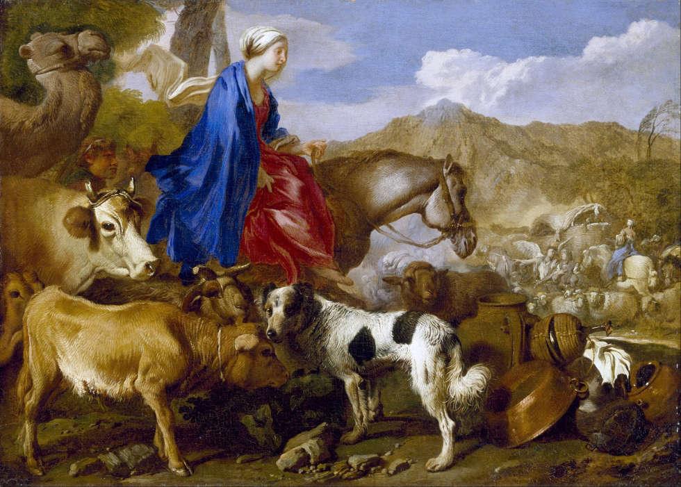 Giovanni Benedetto Castiglione, Reise von Rebecca, um 1637, Öl/Lw, 63 x 70,9 cm (Museum of Fine Arts, Houston)
