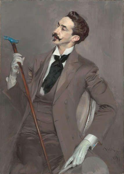 Giovanni Boldini, Le Comte Robert de Montesquiou (1855–1921), 1897, Öl/Lw, 116 x 82,5 cm (Musée d'Orsay, Paris, Foto © RMN-Grand Palais (Musée d'Orsay)/Hervé Lewandowski)