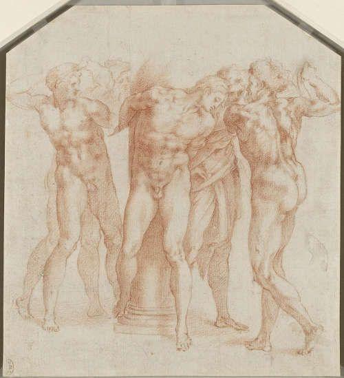 Giulio Clovio nach Michelangelo, Geißelung Christi
