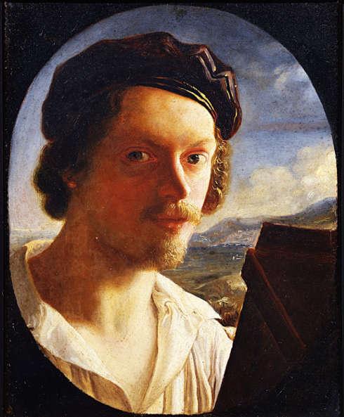 Giuseppe Bezzuoli, Selbstporträt, 81 x 64 cm (Palazzo Pitti, Galleria d'Arte Moderna, Florenz)