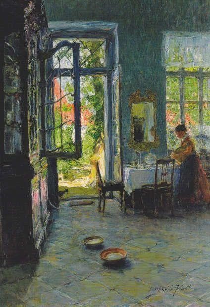 Gotthardt Kuehl, Das Gartenzimmer, um 1897