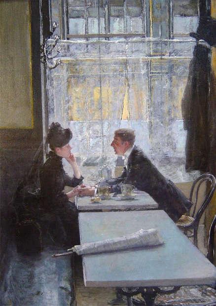 Gotthardt Kuehl, Im Café