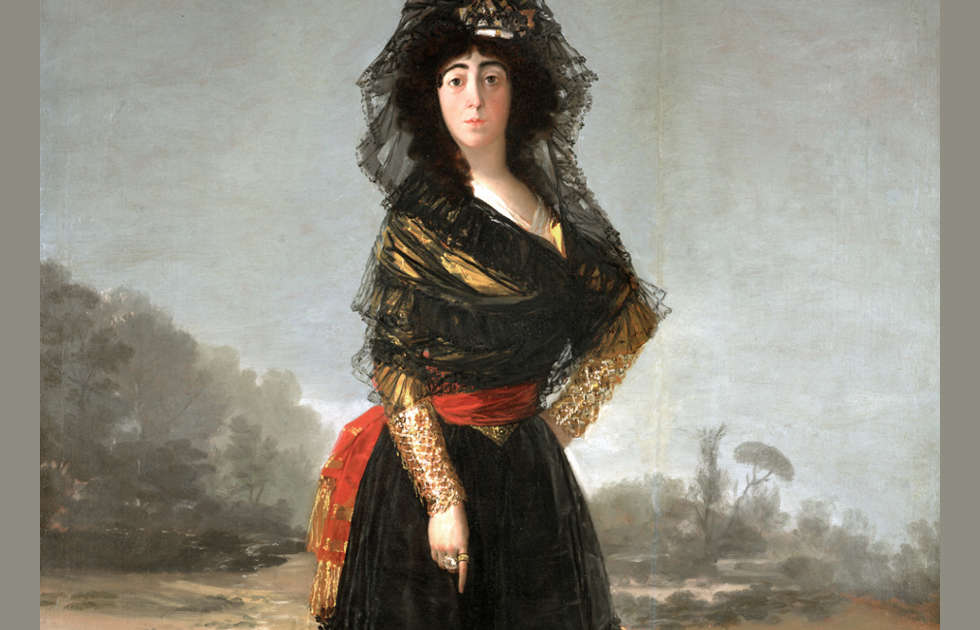 Francisco de Goya, Die Herzogin von Alba, Detail, 1797, Öl auf Leinwand, 210.1 × 149.2 cm (On loan from The Hispanic Society of America, New York, NY, A102).
