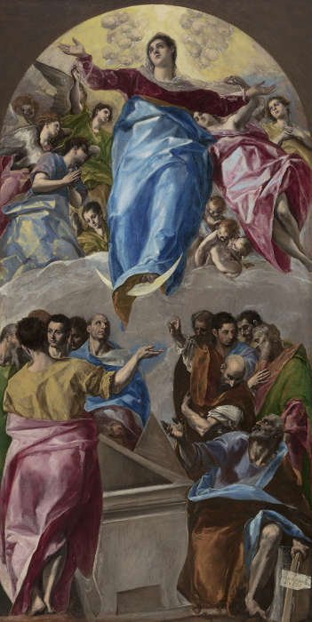 Greco, Aufnahme Mariens in den Himmel, 1577–1579, Öl/Lw, 403,2 x 211,8 cm (Chicago, The Art Institute of Chicago / Photo © Art Institute of Chicago)
