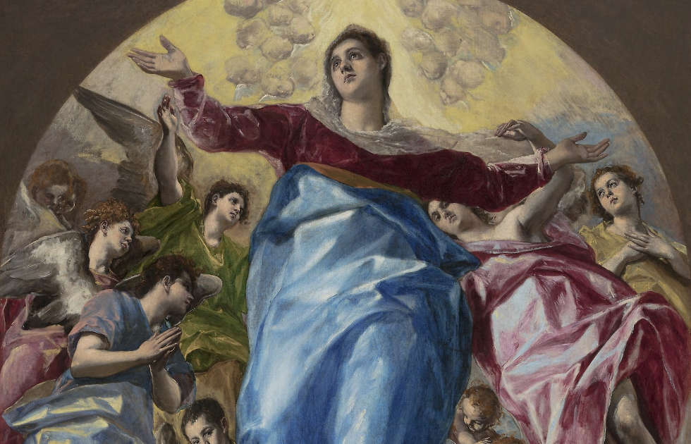 El Greco, Aufnahme Mariens in den Himmel, Detail, 1577–1579, Öl/Lw, 403,2 x 211,8 cm (Chicago, The Art Institute of Chicago / Photo © Art Institute of Chicago)