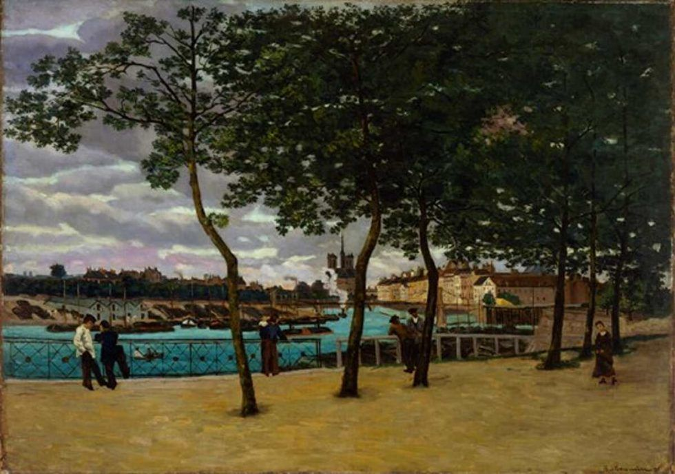 Jean-Baptiste Armand Guillaumin, Temps pluvieux, 1871, Öl auf Leinwand, 126.4 × 181.3 cm, The Museum of Fine Arts, Houston, Gift of Audrey Jones Beck)