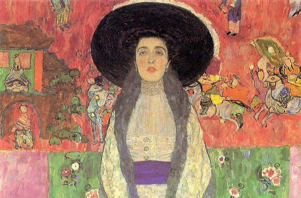 Gustav Klimt, Adele Bloch-Bauer II, Detail, 1912, Öl/Lw, 190 x 120 cm (Privat)
