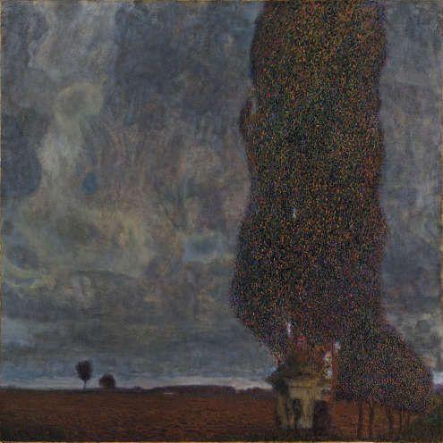 Gustav Klimt, Aufziehendes Gewitter, Die große Pappel II, 1903, Öl/Lw, 100,8 x 100,8 cm (Leopold Museum, Wien, Inv.-Nr. 2008)