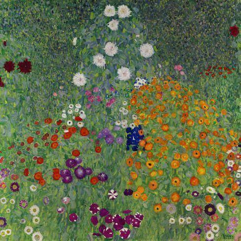 Gustav Klimt, Bauerngarten, 1907, Öl/Lw (Privatbesitz)