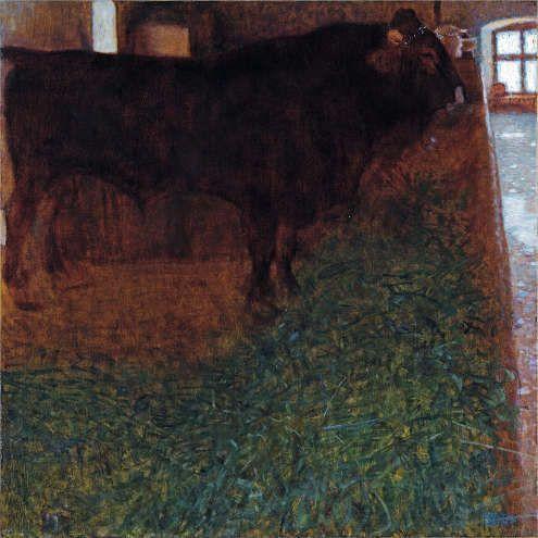 Gustav Klimt, Der schwarze Stier, 1900, Öl/Lw (Sammlung Leopold II)