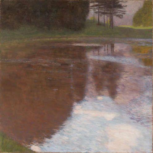 Gustav Klimt, Ein Morgen am Teiche, 1899, Öl/Lw, 75,2 x 75,2 cm (Leopold Museum, Wien, Inv.-Nr. 2007)