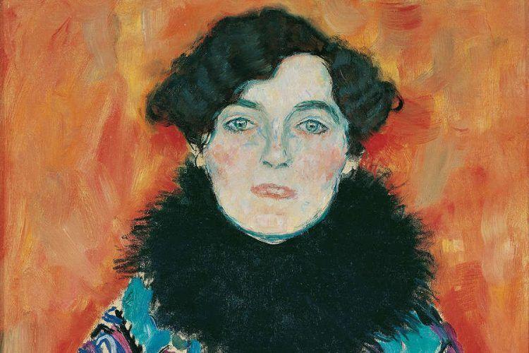 Gustav Klimt, Johanna Staude, Detail, 1918 (unvollendet) (© Belvedere, Wien)