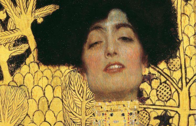 Gustav Klimt, Judith I, Detail, 1901, Öl/Lw, 98 × 48 × 5 cm (incl. Rahmen) (Belvedere, Wien)