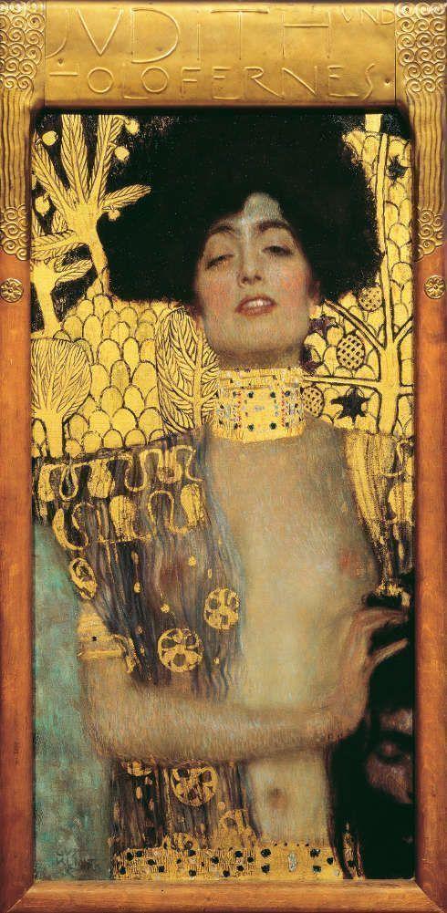 Gustav Klimt, Judith I, 1901, Öl/Lw, 98 × 48 × 5 cm (incl. Rahmen) (Belvedere, Wien)