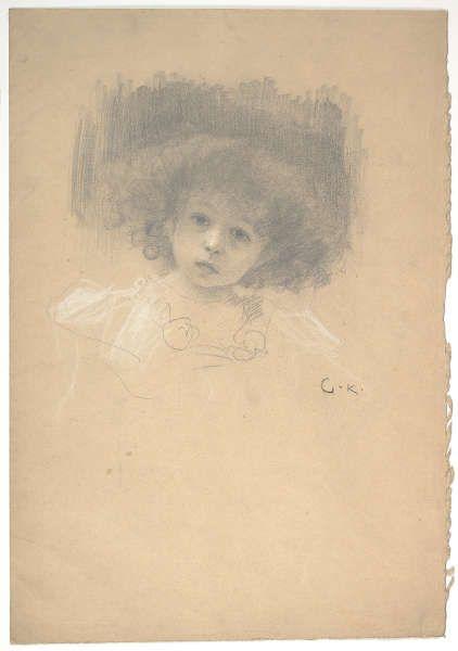 Gustav Klimt, Kinderkopf, Studie für Liebe, 1895 (© Albertina, Wien)