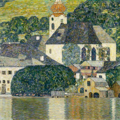 Gustav Klimt, Kirche in Unterach am Attersee, 1916, Öl/Lw, 110 × 110 cm (Courtesy Heidi Horten Collection, Foto Courtesy Heidi Horten Collection)