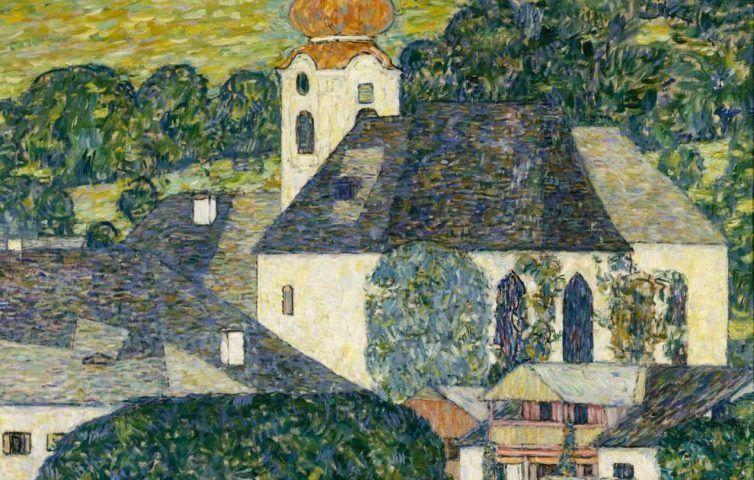 Gustav Klimt, Kirche in Unterach am Attersee, Detail, 1916, Öl/Lw, 110 × 110 cm (Courtesy Heidi Horten Collection, Foto Courtesy Heidi Horten Collection)