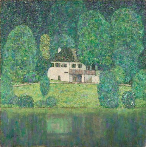 Gustav Klimt, Litzlbergkeller, 1915/16, Öl/Lw (Privatbesitz, Dauerleihgabe im Leopold Museum, Wien)